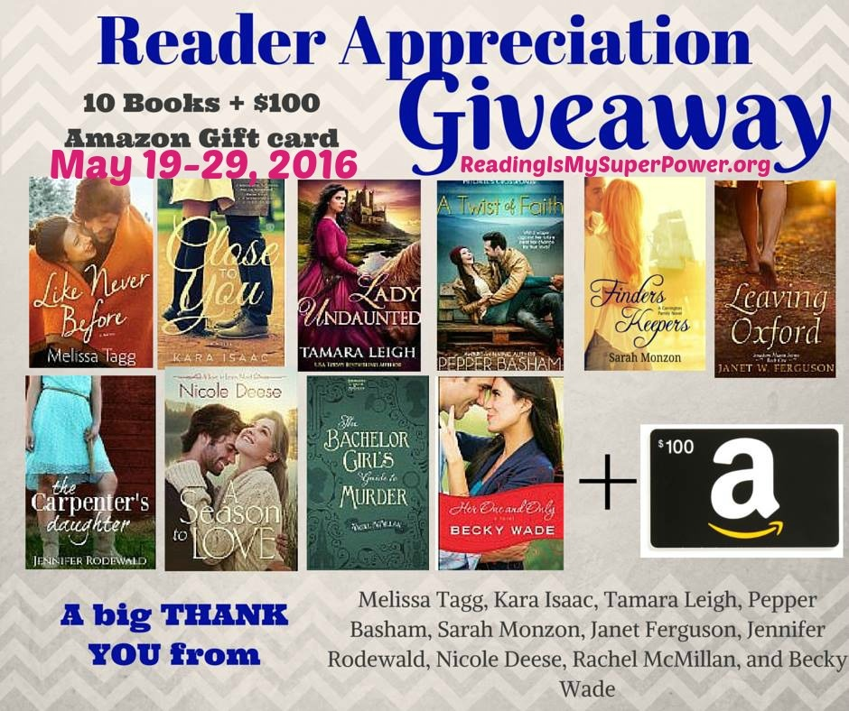 reader appreciation giveaway