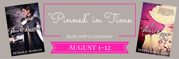 pinned in time blog hop banner