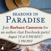 Join Barbara Cameron for the 'Seasons in Paradise' Facebook Party