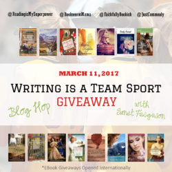 Writing is a Team Sport Blog Hop and GIVEAWAY