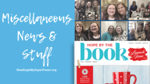 Of ACFW, pneumonia, and Hope By The Book Magazine