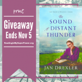 Author Interview (and a Giveaway!): Jan Drexler and The Sound of Distant Thunder