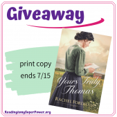 Guest Post (and a Giveaway!):  Rachel Fordham & Yours Truly, Thomas