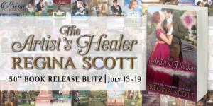 Happy 50th Book Release (and a Giveaway!): Regina Scott & The Artist's Healer