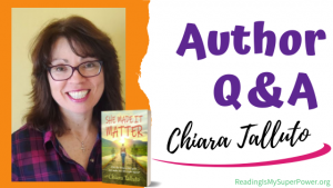 Author Interview (and a Giveaway!): Chiara Talluto & She Made It Matter